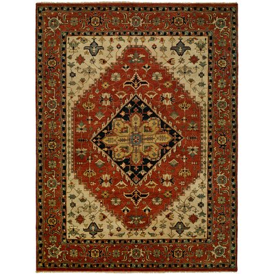 Martinsburg Hand Knotted Wool Rust Area Rug Rug Size: Rectangle 9' x 12'