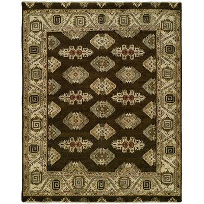 Huntsman Hand Knotted Wool Brown/Beige Area Rug Rug Size: Rectangle 4 x 6