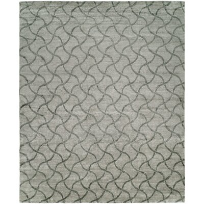 Hazeltine Hand-Knotted Platinum Area Rug Rug Size: Rectangle 12 x 15