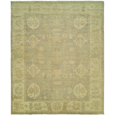 Herrick Hand Knotted Wool Gray/Ivory Area Rug Rug Size: Rectangle 9 x 12