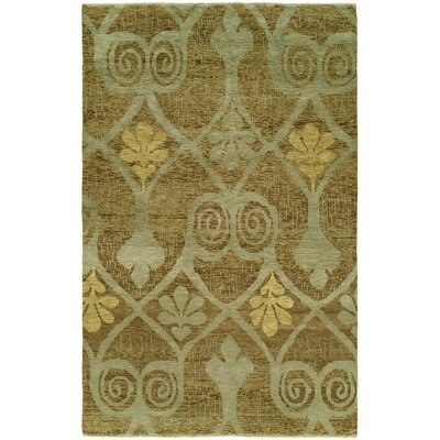 Hancox Hand Knotted Wool Brown Area Rug Rug Size: Rectangle 10 x 14