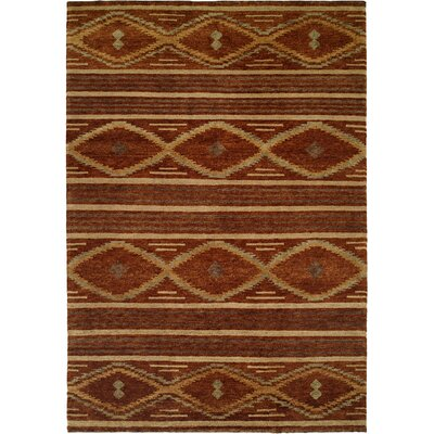 Sitkin Hand-Knotted Wool Brown Area Rug Rug Size: Rectangle 4 x 6