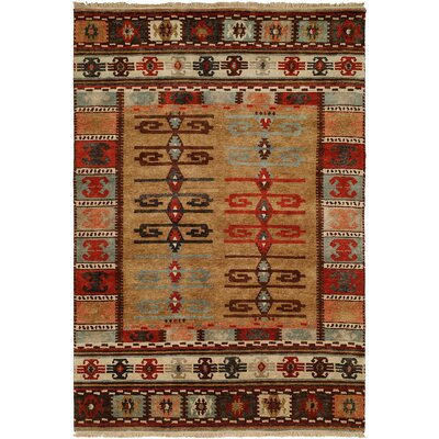 Bakke Hand-Knotted Wool Brown Area Rug Rug Size: Rectangle 3 x 5