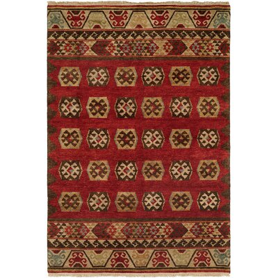 Grassy Ridge Hand-Knotted Wool Rust Area Rug Rug Size: Runner 26 x 12
