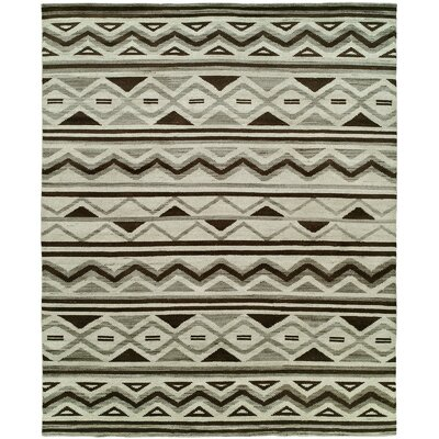 Raynham Hand-Knotted Wool Ivory Area Rug Rug Size: Rectangle 9 x 12