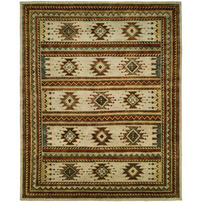 Kintla Hand-Knotted Wool Ivory Area Rug Rug Size: Rectangle 10 x 14