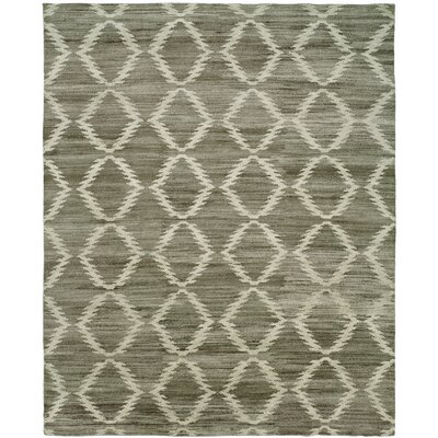 Provincetown Hand-Knotted Wool Gray Area Rug Rug Size: Rectangle 10 x 14