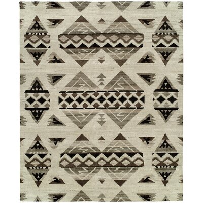 Rehoboth Hand-Knotted Wool Ivory Area Rug Rug Size: Rectangle 6 x 9