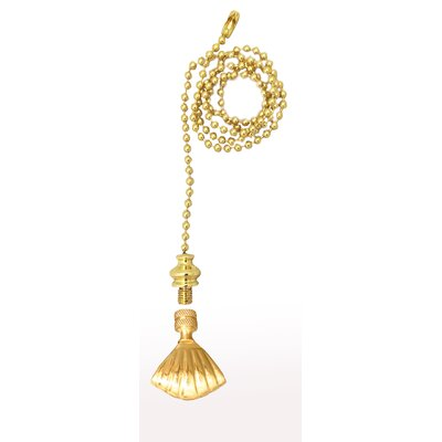 Fan Pull Chain with Seashell Finial Color: Polished