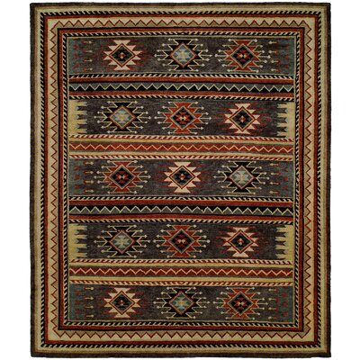 Valarie Hand-Knotted Wool Gray Area Rug Rug Size: Rectangle 9 x 12