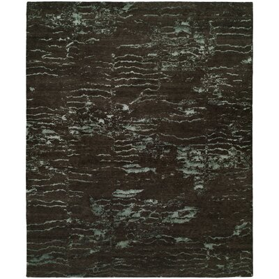 Harmen Hand-Knotted Wool Brown Area Rug Rug Size: Rectangle 9 x 12