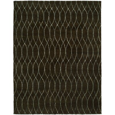 Hazlett Hand-Knotted Wool Brown Area Rug Rug Size: Rectangle 4 x 6