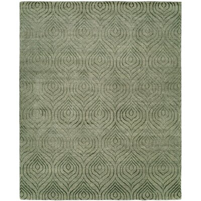 Montpelier Hand-Knotted Gray Area Rug Rug Size: Rectangle 8 x 10