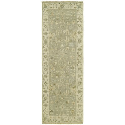 Maynard Hand Knotted Wool Gray Area Rug Rug Size: Runner 26 x 12