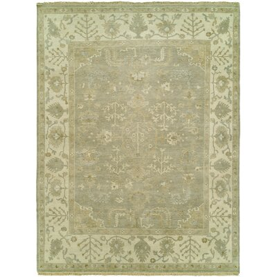 Maynard Hand Knotted Wool Gray Area Rug Rug Size: Rectangle 4 x 6