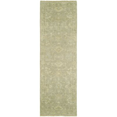 Cl�ment Hand-Knotted Wool Gray Area Rug Rug Size: Rectangle 8 x 10
