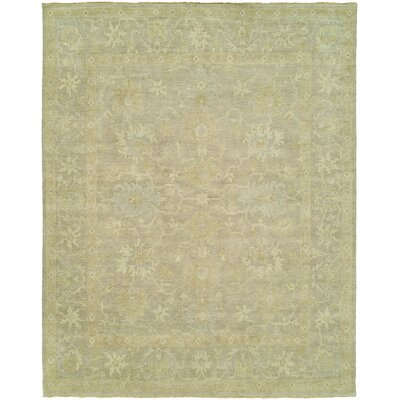 Cl�ment Hand-Knotted Wool Gray Area Rug Rug Size: Rectangle 12 x 18
