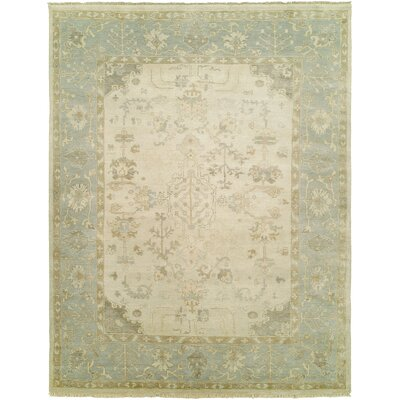 Daan Hand-Knotted Wool Ivory/Blue�Area Rug Rug Size: Rectangle 10 x 14