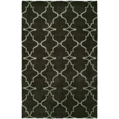 Cammi Hand-Knotted Wool Brown Area Rug Rug Size: Rectangle 10 x 14