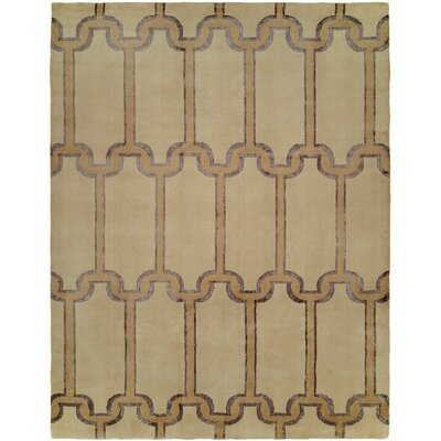 Gottfried Hand Knotted Wool Beige Area Rug Rug Size: Rectangle 9 x 12