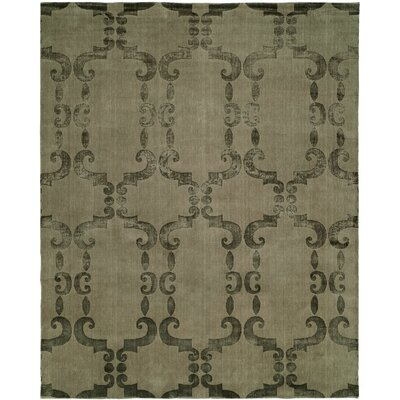 Grunin Hand Knotted Wool Beige Area Rug Rug Size: Rectangle 9 x 12