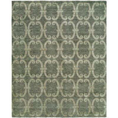 Groh Hand Knotted Wool Gray Area Rug Rug Size: Rectangle 4 x 6