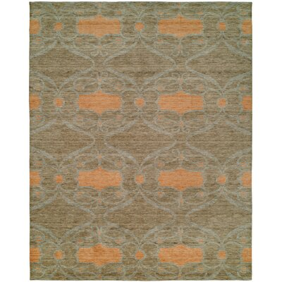 Gudrun Hand Knotted Wool Camel/Orange Area Rug Rug Size: Rectangle 9 x 12