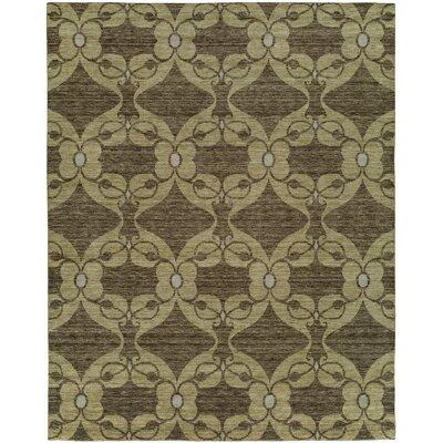 Gryselda Hand Knotted Wool Brown Area Rug Rug Size: Rectangle 9 x 12
