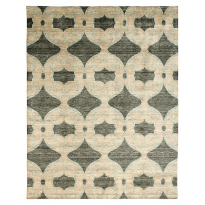 Guida Hand Knotted Wool Beige Area Rug Rug Size: Rectangle 9 x 12