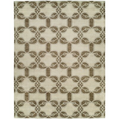 Guilaine Hand Knotted Wool Ivory Area Rug Rug Size: Rectangle 4 x 6