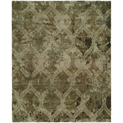 Chelsea Hand Knotted Wool Brown Area Rug Rug Size: Round 6
