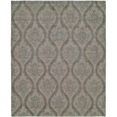 Tibo Hand-Knotted Wool Gray/Beige Area Rug Rug Size: Rectangle 8 x 10