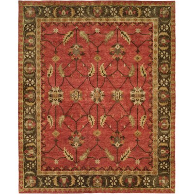 Honoria Hand Knotted Wool Rust/Brown Area Rug Rug Size: Rectangle 4 x 6