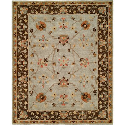 Christie Hand Knotted Wool Gray/Brown Area Rug Rug Size: Rectangle 4 x 6