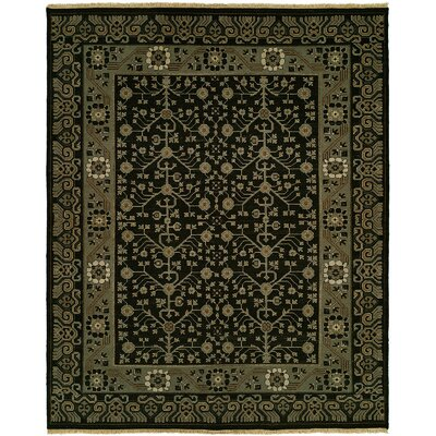 Hesson Wool Black Area Rug Rug Size: Runner 26 x 8