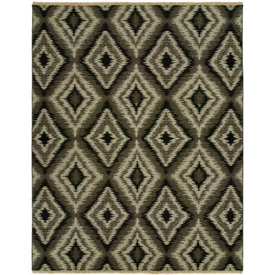 Liya Natural Wool Gray Area Rug Rug Size: Rectangle 10 x 14