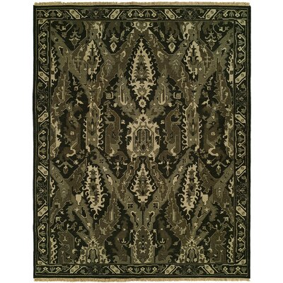 Hewett Wool Black Area Rug Rug Size: Runner 26 x 12