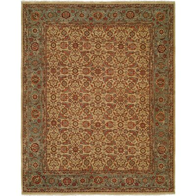 McCullom Hand Knotted Wool Ivory/Blue�Area Rug Rug Size: Rectangle 9 x 12