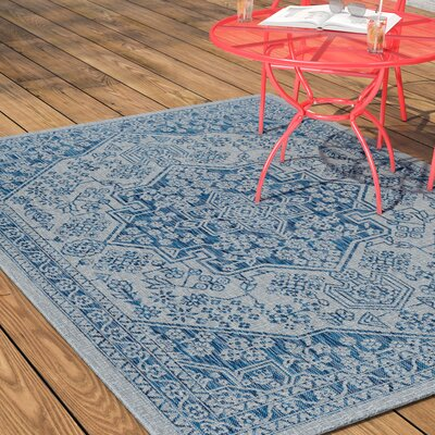 Ares Traditional Indigo Indoor/Outdoor Area Rug Rug Size: Rectangle 53 x 73