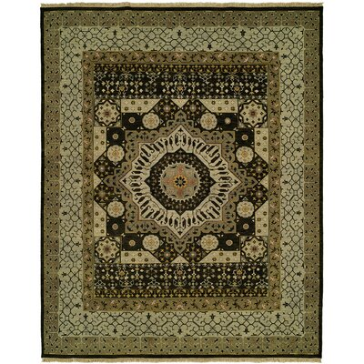 Martinton Wool Olive Area Rug Rug Size: Rectangle 9 x 12