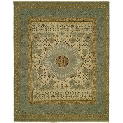 Masontown Wool Beige/Blue Area Rug Rug Size: Square 10
