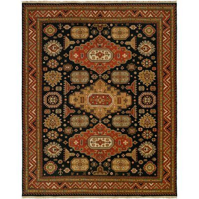 Granat Wool Navy/Rust Area Rug Rug Size: Square 10