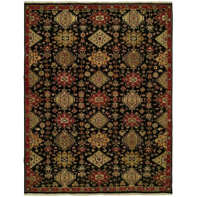Gustel Wool Black Area Rug Rug Size: Runner 26 x 10