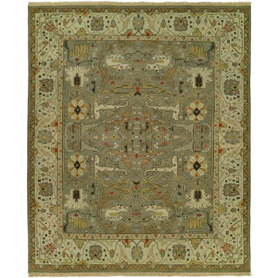 Mayhugh Wool Olive Area Rug Rug Size: Square 8