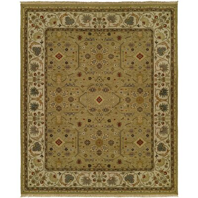 Herrmann Wool Brown Area Rug Rug Size: Rectangle 4 x 6