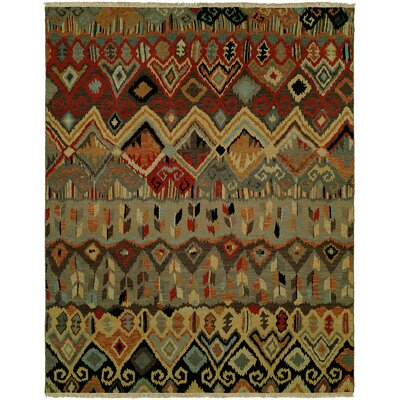 Hulton Wool Red/Beige Area Rug Rug Size: Rectangle 4 x 6