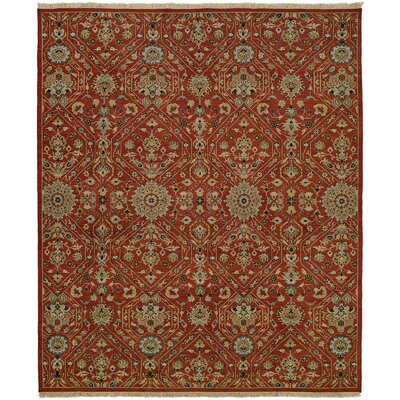 Mccall Wool Red Area Rug Rug Size: Round 10