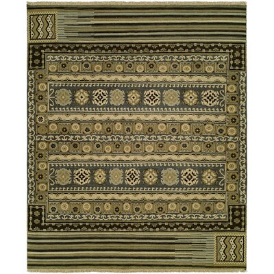 Joe Wool Olive Area Rug Rug Size: Rectangle 10 x 14