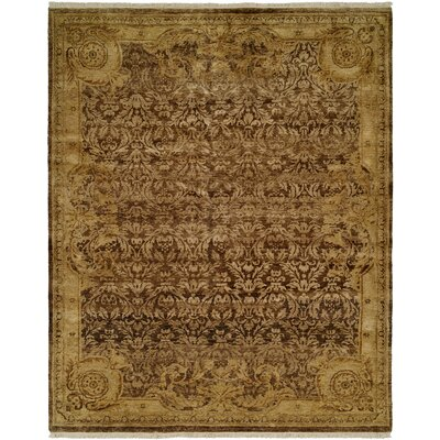 Masonville Hand Knotted Wool Brown/Ivory Area Rug Rug Size: Rectangle 10 x 14