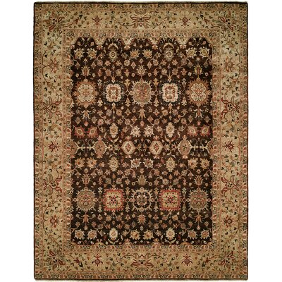 Mathilda Hand Knotted Wool Brown/Beige Area Rug Rug Size: Rectangle 9 x 12